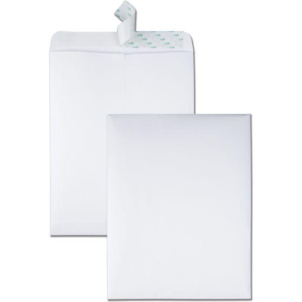 Quality Park Redi Strip Catalog Envelope, 10 x 13, White, 100/Box
