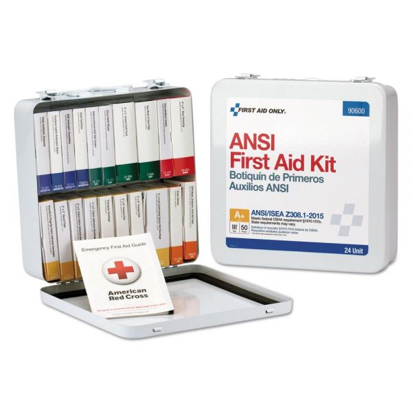 First Aid Only ANSI Class A Weatherproof First Aid Kit for 50 People, 24 Pieces