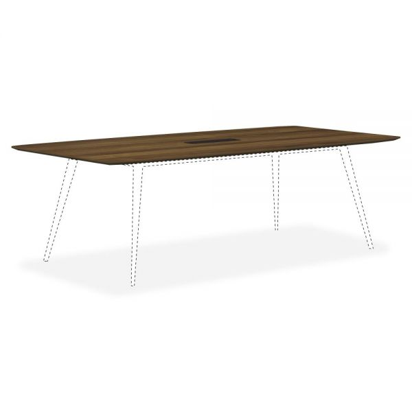Lorell Walnut Laminate Rectangular Conference Tabletop w/Wire Management