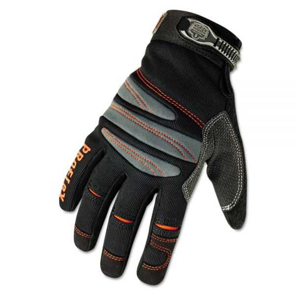 ergodyne ProFlex 710 Mechanic's Gloves, Large, Black
