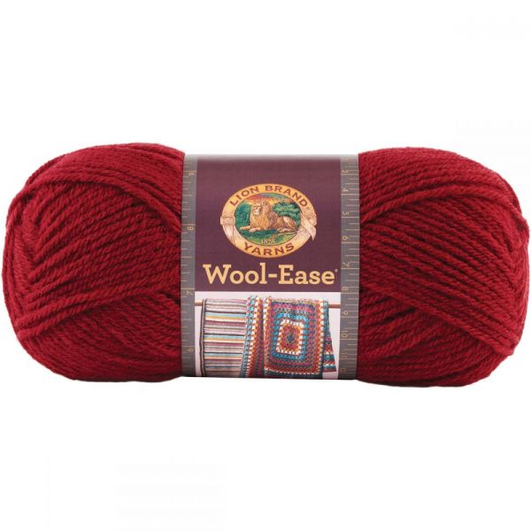 Lion Brand Wool-Ease Yarn - Cranberry