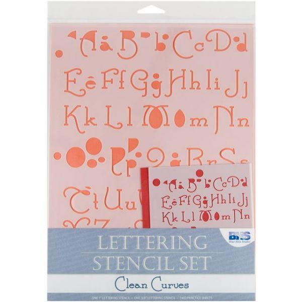 Lettering Stencil 4pc Sets
