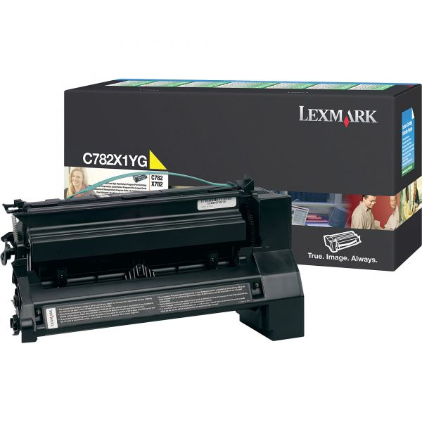 Lexmark C782X1YG Yellow Extra High Yield Return Program Toner Cartridge