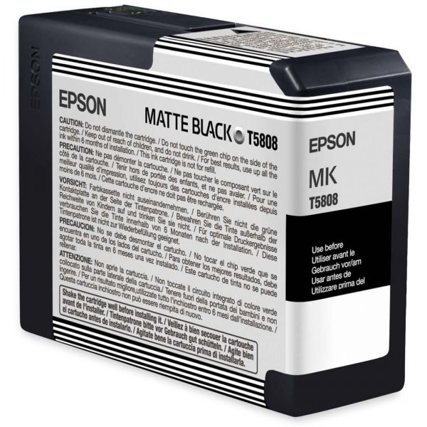 Epson T5808 Matte Black Ink Cartridge