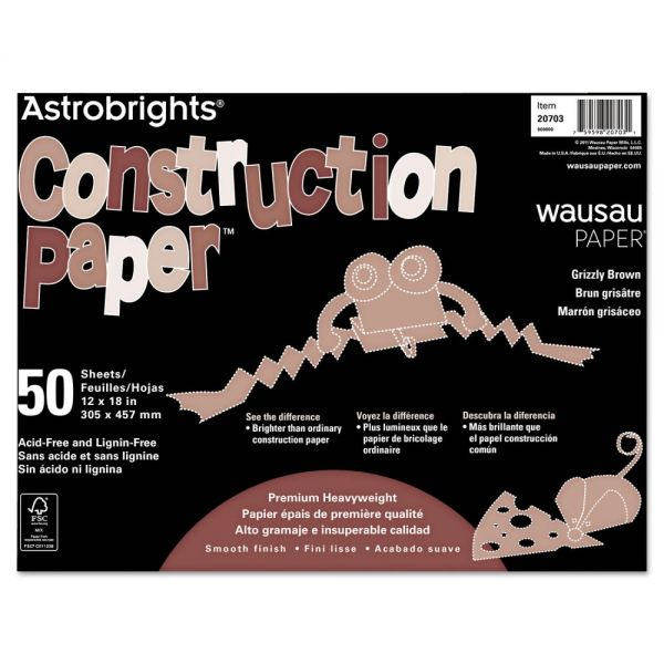 Astrobrights Brown Construction Paper