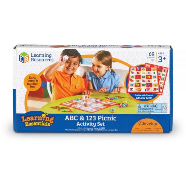 Learning Resources ABC 123 Picnic Board Activity Set