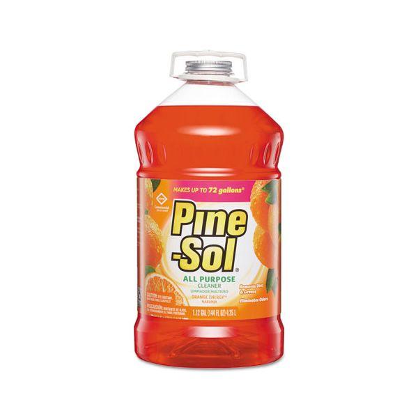 Pine-Sol All-Purpose Cleaner, Orange Energy, 144 oz Bottle, 3/Carton