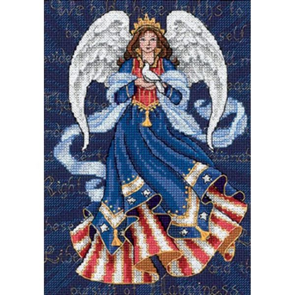 Dimensions Gold Petite Patriotic Angel Counted Cross Stitch Kit