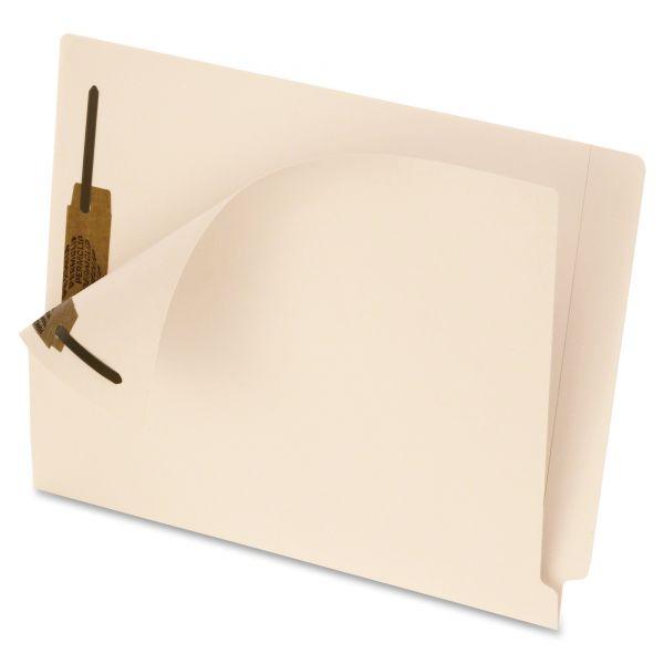 Pendaflex End Tab Fastener Folders, Two Fastener, Letter, Manila, 50/Box