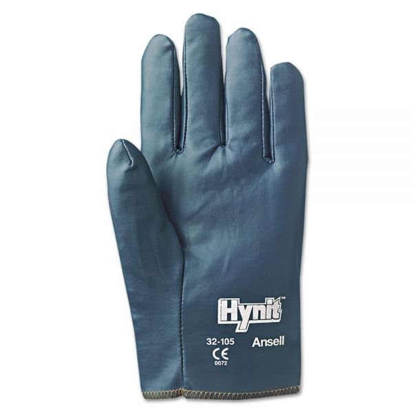 AnsellPro Hynit Nitrile-Impregnated Gloves, Size 10
