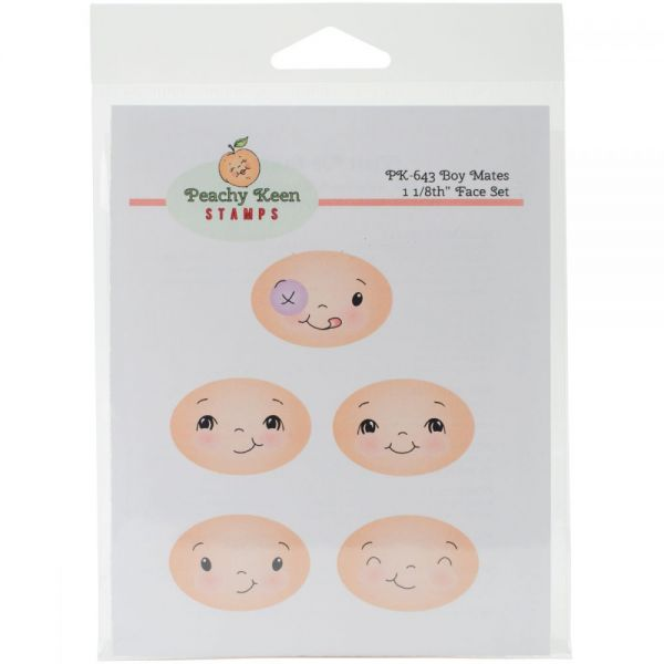 Peachy Keen Stamps Clear Face Assortment 5/Pkg