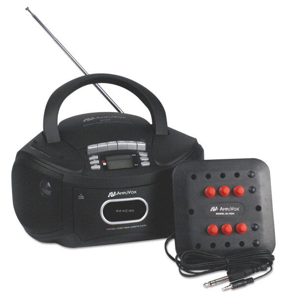 AmpliVox Six-Station Listening Center/Boombox