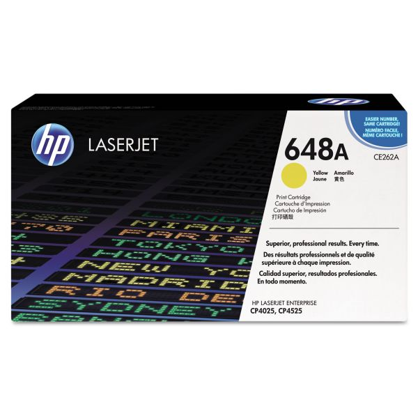 HP 648A Yellow Toner Cartridge (CE262AG)