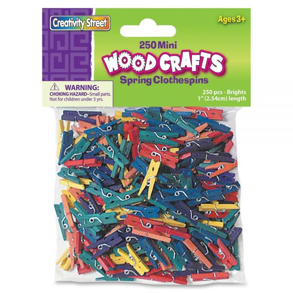 ChenilleKraft WoodCrafts Bright Mini Clothespins