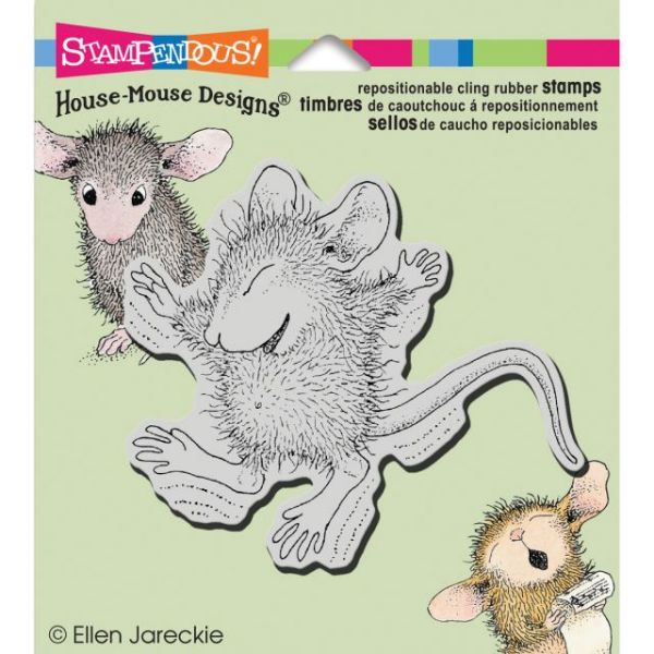 "Stampendous House Mouse Cling Rubber Stamp 3.5""X4"" Sheet"