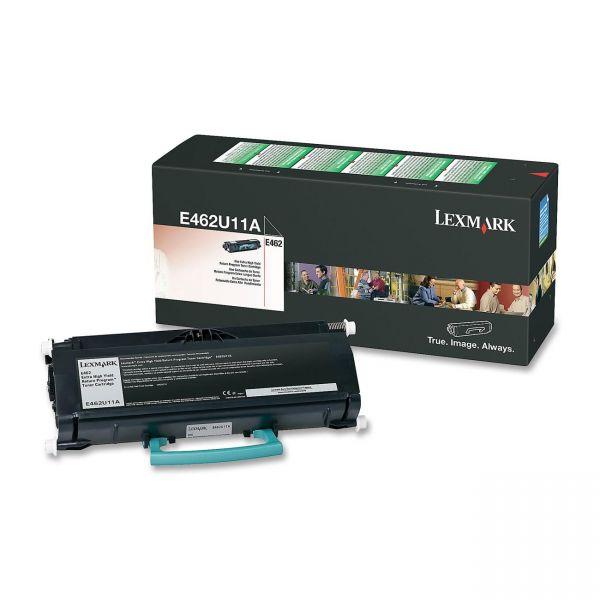 Lexmark E462U11A Black Extra High Yield Return Program Toner Cartridge