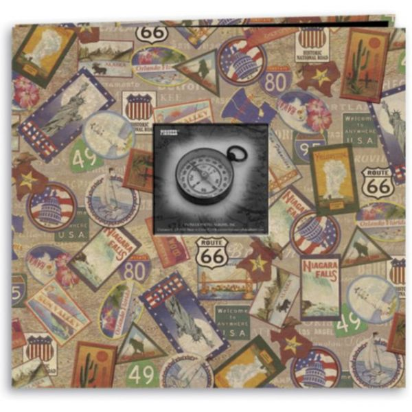 "Travel Post Bound Album 12""X12"""