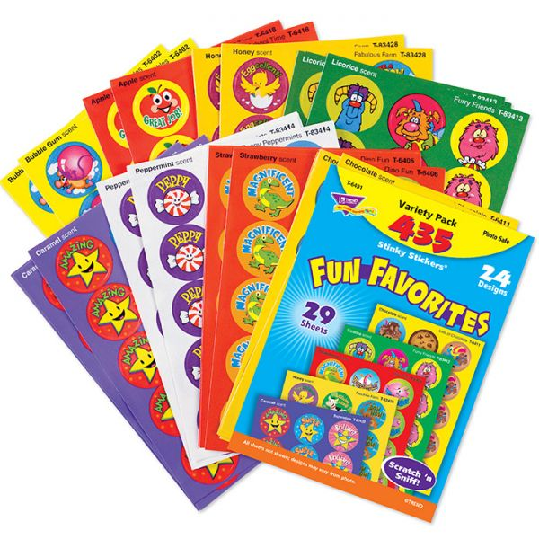 Trend Fun Favorites Stinky Stickers Variety Pack