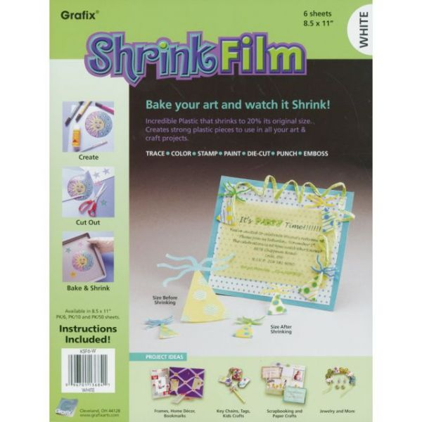 "Shrink Film 8.5""X11"" 6/Pkg"