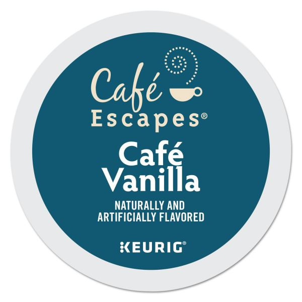Café Escapes Café Vanilla Coffee K-Cups