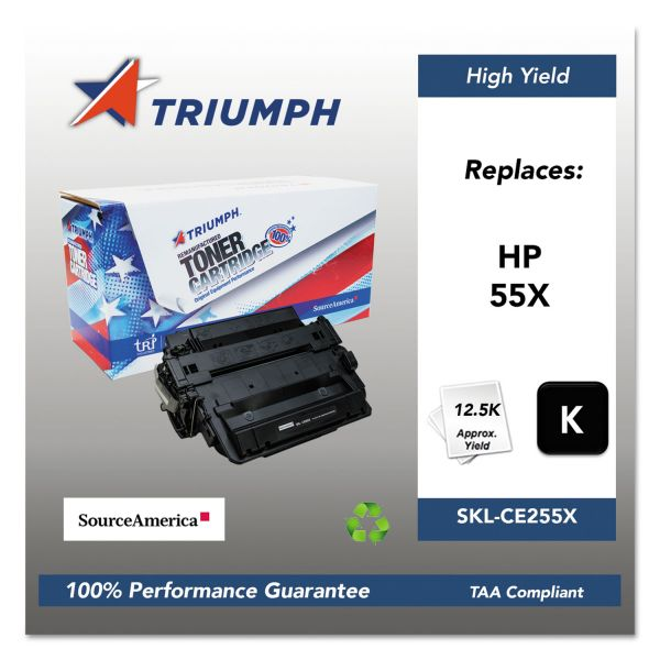 Triumph 751000NSH1098 Remanufactured CE255X (55X) High-Yield Toner, Black