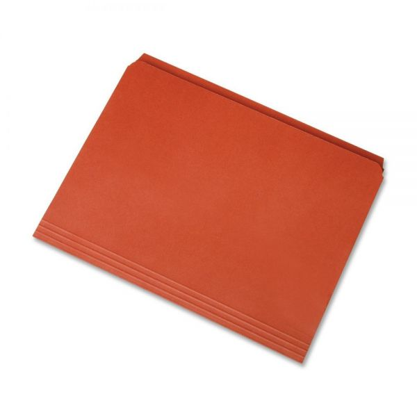 SKILCRAFT Orange Colored File Folders