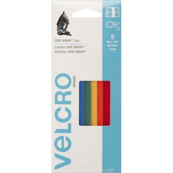 "VELCRO(R) Brand ONE-WRAP(R) Ties 8""X1/2"" 5/Pkg"