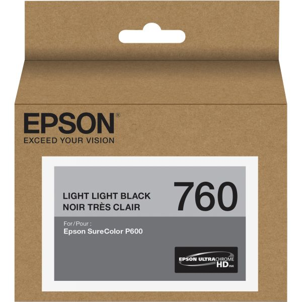Epson 760 UltraChrome Light Light Black HD Ink Cartridge (T760920)