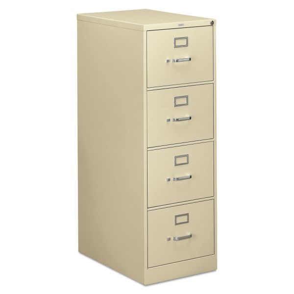 HON 310 Series Four-Drawer, Full-Suspension File, Legal, 26-1/2d, Putty