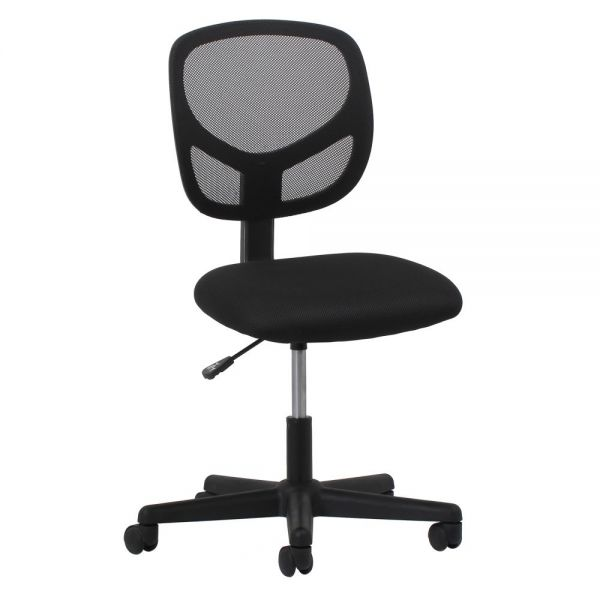 Essentials by OFM Swivel Mesh Armless Task Chair