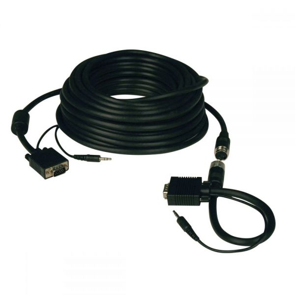Tripp Lite High Resolution SVGA / VGA Monitor Easy Pull Cable with Audio and RGB coax