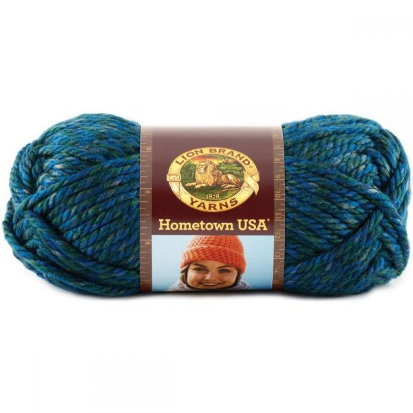 Lion Brand Hometown USA Yarn - Lake Tahoe Blue
