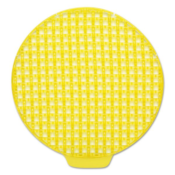 Georgia Pacific Professional ActiveAire Deodorizer Urinal Screen, Sunscape, w/Side Tab, Yellow, 12/Ctn