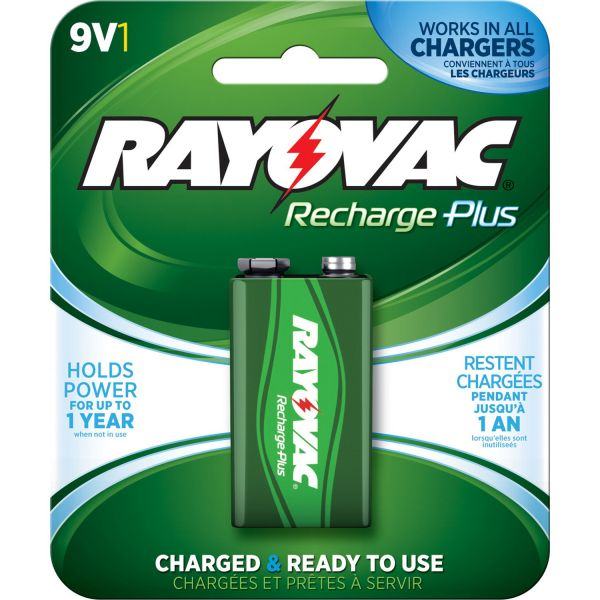 Rayovac Platinum Rechargeable 9 Volt Battery