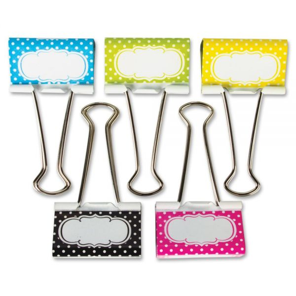 Teacher Created Resources Polka Dot Large Binder Clips