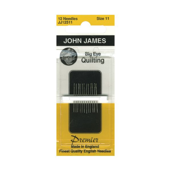 John James Big Eye Quilting Hand Needles