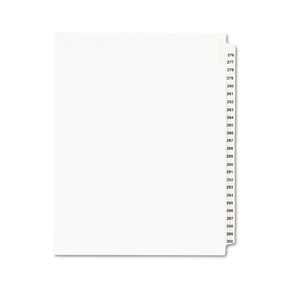 Avery Avery-Style Legal Exhibit Side Tab Divider, Title: 276-300, Letter, White