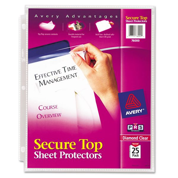 Avery Secure Top Loading Sheet Protectors