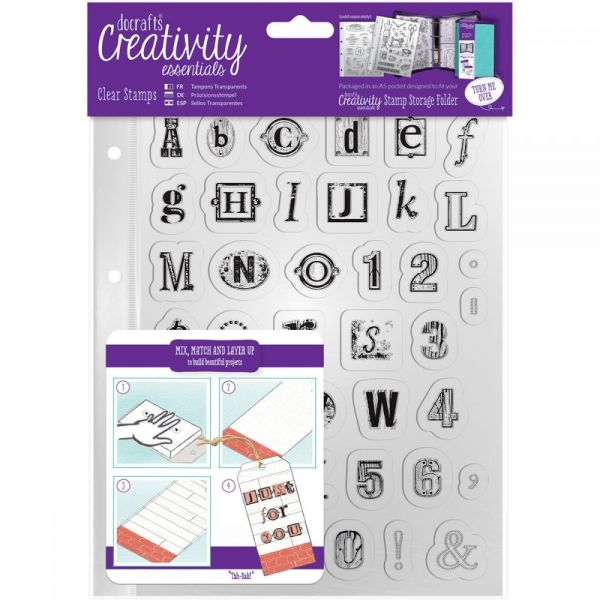 Creativity Essentials A5 Clear Stamps