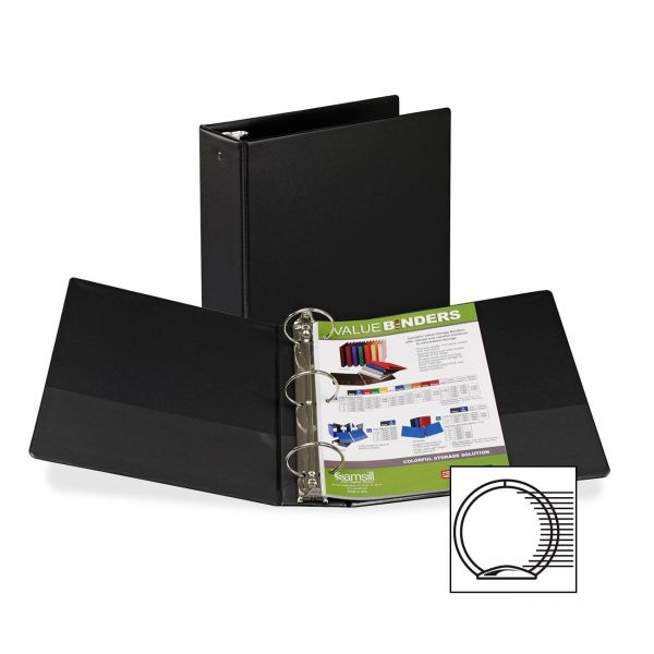 "Samsill Suede Embossed 3"" 3-Ring Binder"