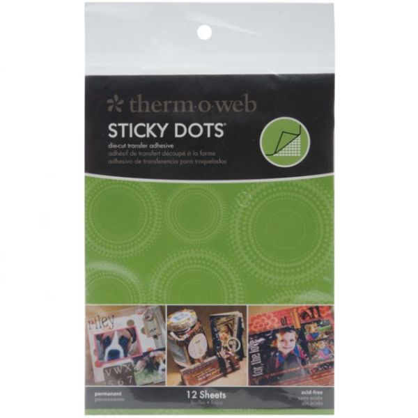 Therm-O-Web Sticky Dot Die-Cut Transfer Adhesive Sheets