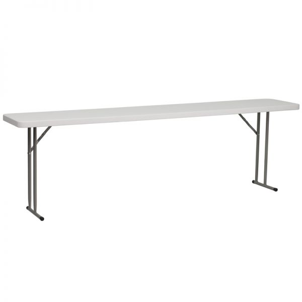 Flash Furniture 18''W x 96''L Granite White Plastic Folding Training Table