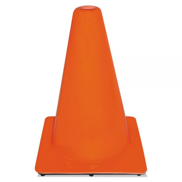 3M Non-Reflective Safety Cone, 9 x 9 x 12, Orange