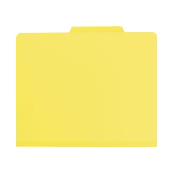Smead Yellow 2-Divider Classification Folders