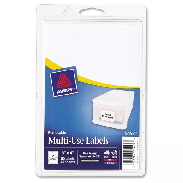 Avery Removable Multipurpose Labels
