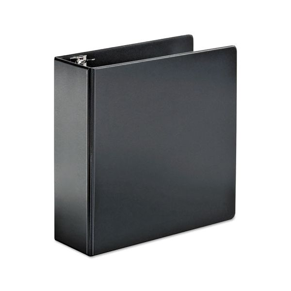 "Cardinal SuperStrength Locking 3-Ring Binder, 4"" Capacity, Slant-D Ring, Black"