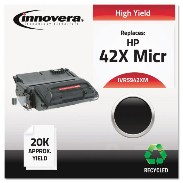 Innovera Remanufactured HP 42X (Q5942X) High Yield MICR Toner Cartridge