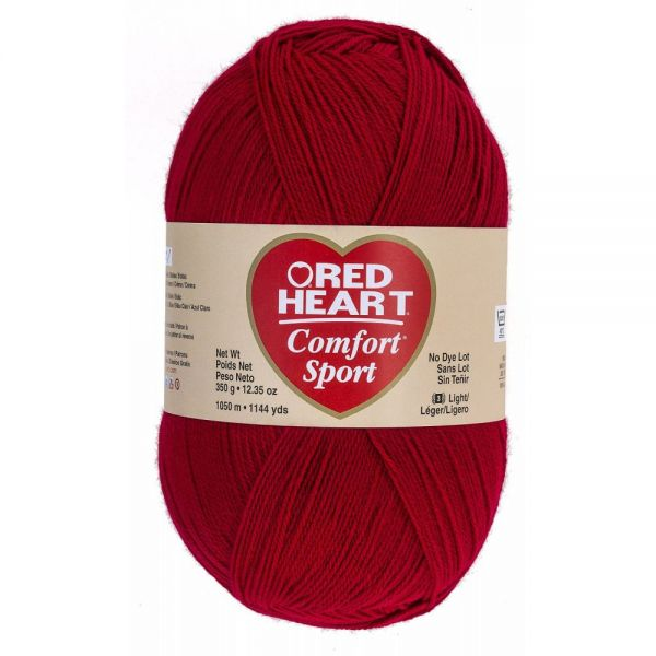 Red Heart Comfort Sport Yarn - Cardinal Red