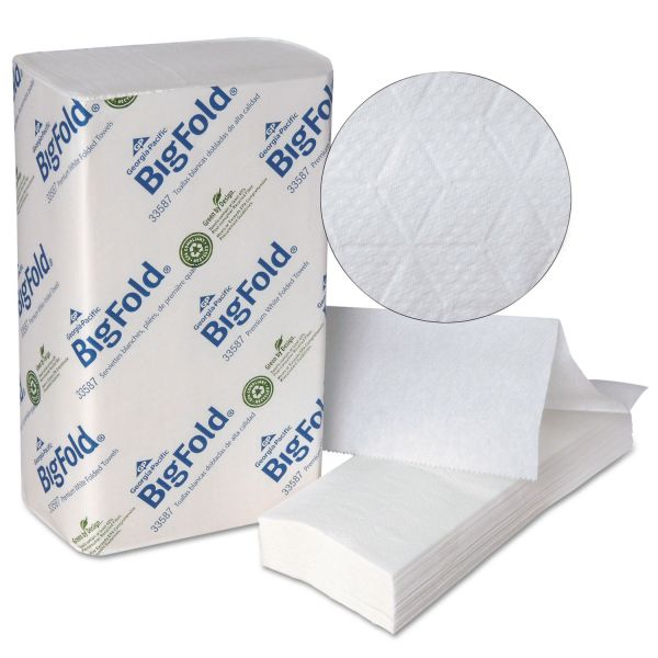 Georgia Pacific Professional BigFold Paper Towels, 10 1/5 x 10 4/5, 1-Ply, White, 220 Sheets/Pack, 10 Packs/Carton