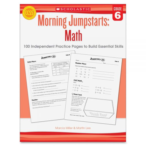 Scholastic Res. Gr 6 Morning Jumpstart Math Wkbook Education Printed Book for Mathematics